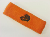 Orange custom sport sweat head band terry