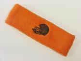Orange custom sport sweat head band terry