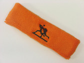 Orange custom sport sweat headbands terry