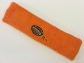 Orange custom terry head band sports sweat