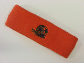 Dark orange custom sport headbands sweat terry