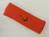 Dark orange custom head band sports sweat terry