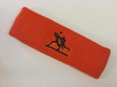 Dark orange custom sport sweat headbands terry