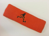 Dark orange custom terry headband sports sweat
