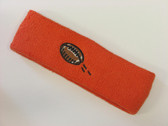 Dark orange custom terry head band sports sweat