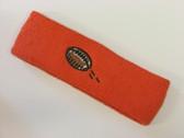 Dark orange custom terry head band sports sweat