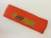 Dark orange custom terry headbands sports sweat