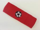 Red custom headband sports sweat terry