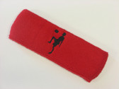 Red custom sport headband sweat terry