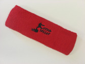 Red custom sport head band sweat terry