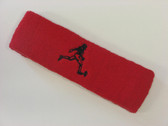 Red custom terry headband sports sweat