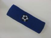 Blue custom headband sports sweat terry
