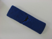 Blue custom headbands sports sweat terry