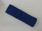 Blue custom headbands sports sweat terry
