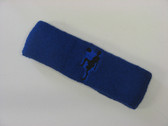 Blue custom sport headband sweat terry