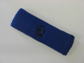 Blue custom sport headbands sweat terry