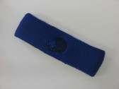 Blue custom sport sweat head band terry