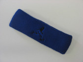 Blue custom terry headband sports sweat