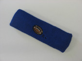 Blue custom terry head band sports sweat