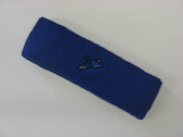 Blue custom sport sweat headband terry