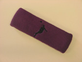 Purple custom headbands sports sweat terry