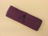 Purple custom terry headband sports sweat