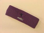 Purple custom sports headband sweat terry