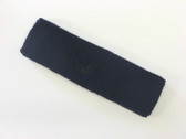 Navy custom head band sports sweat terry
