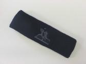 Navy custom sport sweat headbands terry
