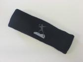 Navy custom sports headband sweat terry