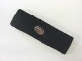 Black custom terry head band sports sweat