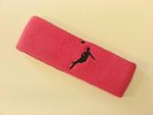 Brigth pink custom headbands sports sweat terry