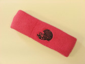 Brigth pink custom sport sweat head band terry