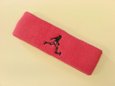 Brigth pink custom terry headband sports sweat