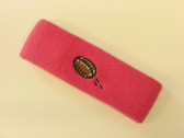Brigth pink custom terry head band sports sweat