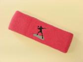 Brigth pink custom sports headband sweat terry