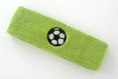 Lime green custom headband sports sweat terry