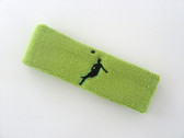 Lime green custom headbands sports sweat terry