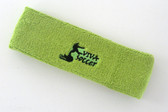 Lime green custom sport head band sweat terry