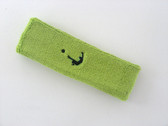 Lime green custom head band sports sweat terry