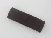 Brown custom headbands sports sweat terry