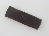 Brown custom sport head band sweat terry