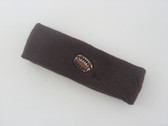 Brown custom terry head band sports sweat