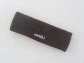Brown custom sports headband sweat terry