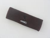 Brown custom sports headband sweat terry