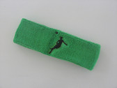 Bright green custom headbands sports sweat terry