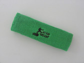 Bright green custom sport head band sweat terry