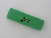 Bright green custom sport head band sweat terry