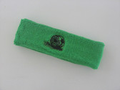 Bright green custom sport headbands sweat terry