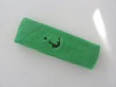 Bright green custom head band sports sweat terry